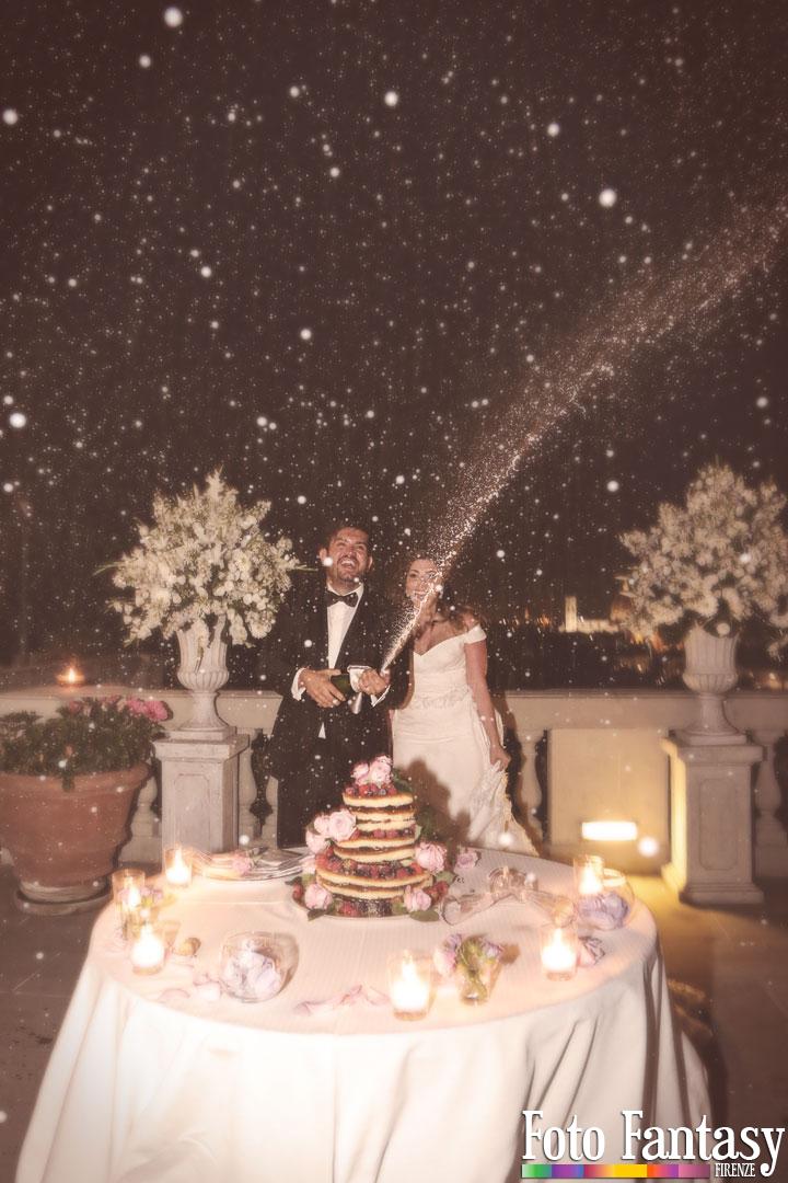 Servizio Matrimonio - Foto Fantasy Firenze - Spumante
